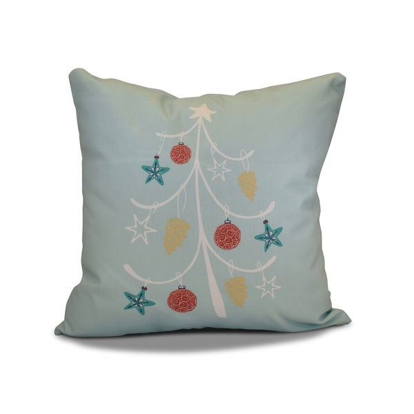 20 x 20-inch Pinecone Tree Holiday Geometric Print Pillow