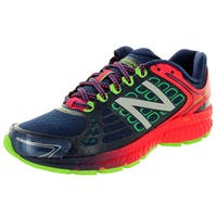 New Balance Women's 1260V4 Navy Blue With Coral Pink and Lime Green Running Shoe
