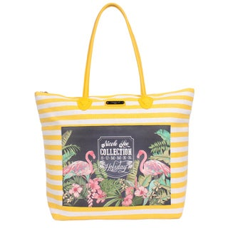 Nicole Lee Minnie Yellow Beach Tote Bag