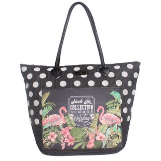 Nicole Lee Karly Black Beach Tote Bag