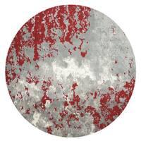 Nourison Twilight Grey/Red Area Rug (8' Round) - 8' x round