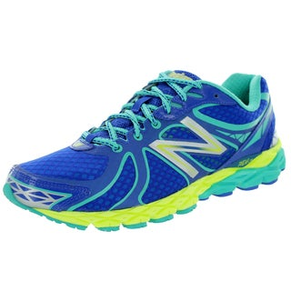 New Balance Women's 870V3 Blue With Blue Atoll and Lime Running Shoe
