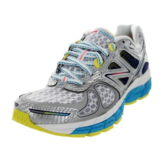 New Balance Women's 860V4 Silver With Blue and Limelight Running Shoe
