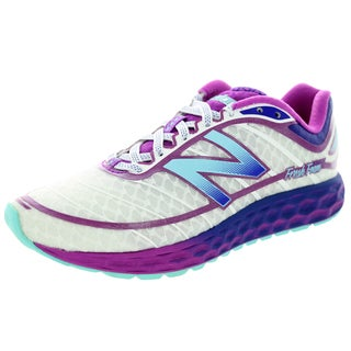 New Balance Women's Fresh Foam Boracay White With Voltage Violet Running Shoe
