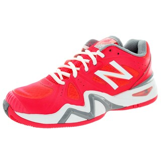 New Balance Women's 1296 Coral Pink With White and Grey Tennis Shoe