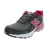 New Balance Women's 990V3 Grey/Exuberant Pink/White Running Shoe
