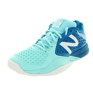 New Balance Women's 996V2 Light Blue With Blue Tennis Shoe