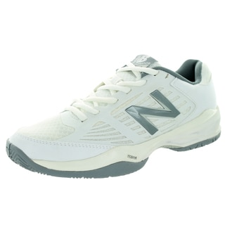 New Balance Women's 896 White With Silver Tennis Shoe