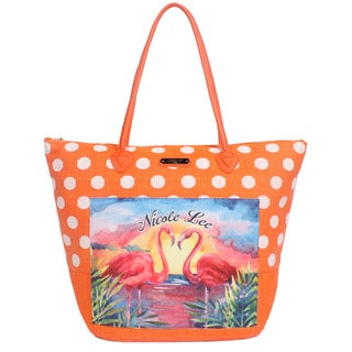 Nicole Lee Karly Orange Beach Tote Bag