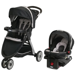 Graco Black Fast Action Sport SnugRide Click Connect 35 Car Seat And  Stroller Travel System