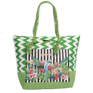 Nicole Lee Jeri Green Beach Tote Bag
