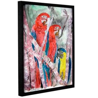 Derek McCrea's '3 Parrots Wildlife Paintings' Gallery Wrapped Floater-framed Canvas