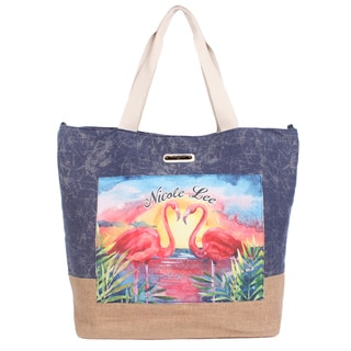 Nicole Lee Roxie Blue Beach Tote Bag