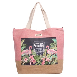 Nicole Lee Roxie Pink Beach Tote Bag