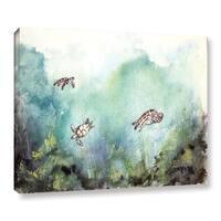 Derek McCrea's '3 Sea Turtles Paintings' Gallery Wrapped Canvas