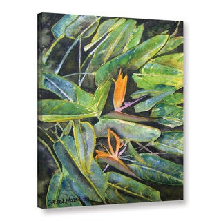 Derek McCrea's 'Bird of Paradise Tropical Flower 2' Gallery Wrapped Canvas