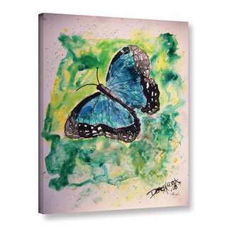 Derek McCrea's 'Blue Butterfly Yupo Painting' Gallery Wrapped Canvas