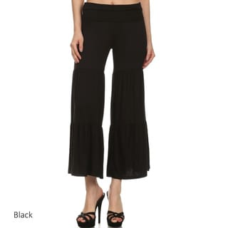 Women's Pleated Palazzo Pants (Option: Khaki)