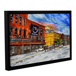 Derek McCrea's 'Cadillac Ranch Nashville painting' Gallery Wrapped Floater-framed Canvas