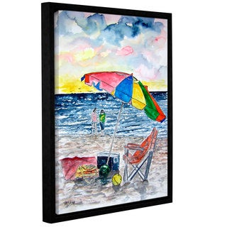 Derek McCrea's 'Clearwater Beach painting' Gallery Wrapped Floater-framed Canvas