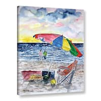 Derek McCrea's 'Clearwater Beach painting' Gallery Wrapped Canvas