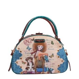 Nicole Lee Nikita Print Bowler Handbag