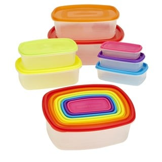 Kitchen Details Rainbow Large 14-piece Nested Food Storage Set