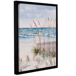 Derek McCrea's 'Florida Beach painting' Gallery Wrapped Floater-framed Canvas