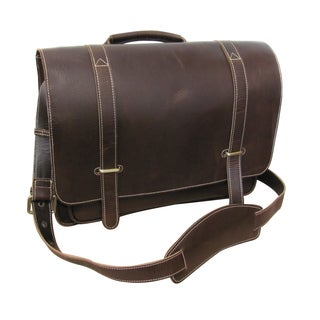 Amerileather Jordan Brown Leather 15-inch Laptop Messenger Bag