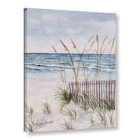 Derek McCrea's 'Florida Beach painting' Gallery Wrapped Canvas