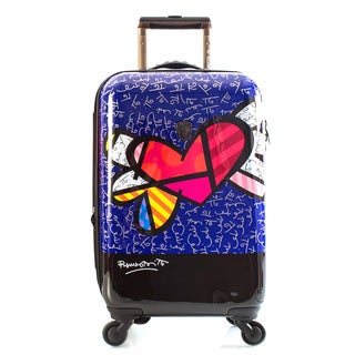 Heys Britto Heart with Wings 21-Inch Fashion Hardside Carry-on Spinner Upright Suitcase