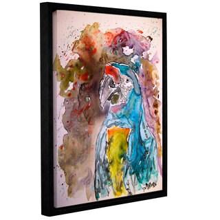 Derek McCrea's 'Macaw Parrot Yupo' Gallery Wrapped Floater-framed Canvas