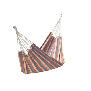 Orange/ Yellow Multi-stripe Cotton Fabric Hammock (3' x 11')