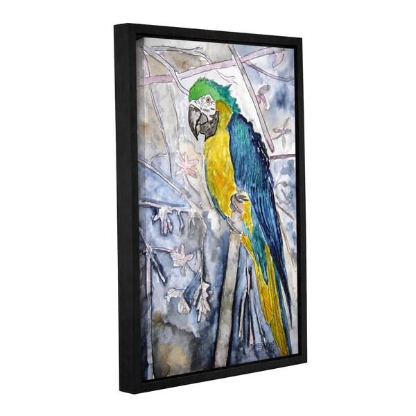 Derek McCrea's 'Parrot Bird' Gallery Wrapped Floater-framed Canvas