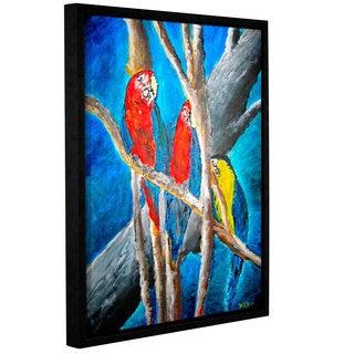 Derek McCrea's 'Parrot' Gallery Wrapped Floater-framed Canvas