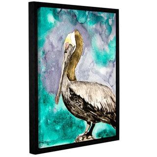 Derek McCrea's 'Pelican Bird' Gallery Wrapped Floater-framed Canvas