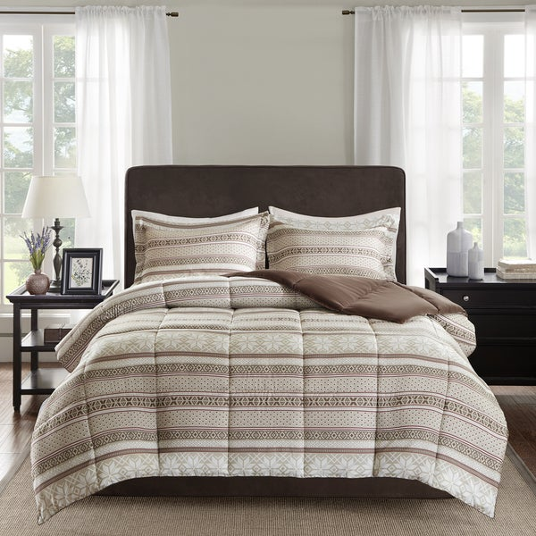 Madison Park Essentials Elson 3M Scotchgard Down Alternative Tan Comforter Mini Set