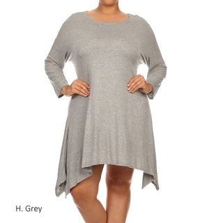 Plus Size Women's Solid Ruffled Top