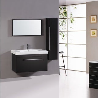Legion Furniture 40-inch Sink Vanity with Mirror and Side Cabinet