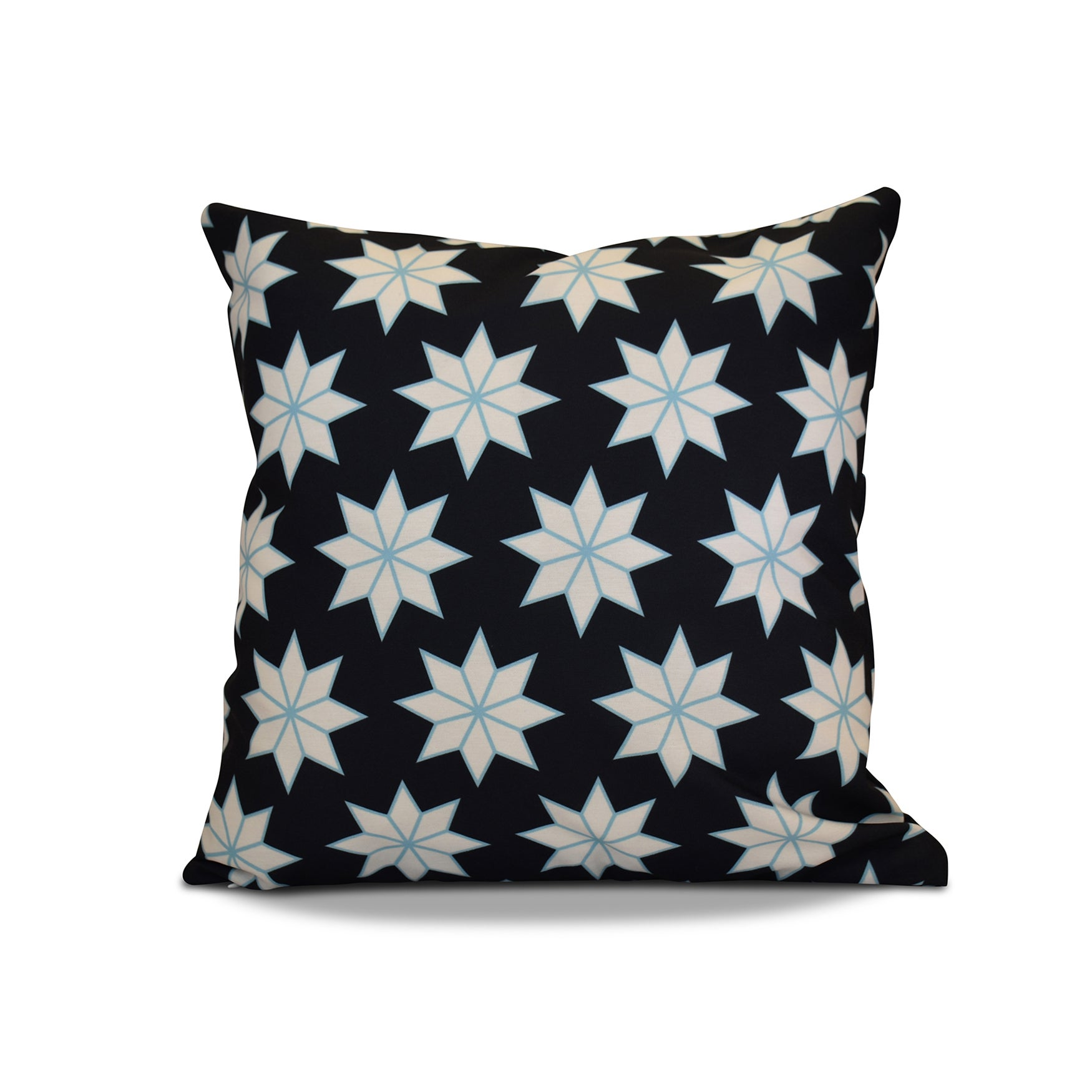 20 x 20-inch Christmas Stars 1 Geometric Holiday Print Outdoor Pillow (Green)