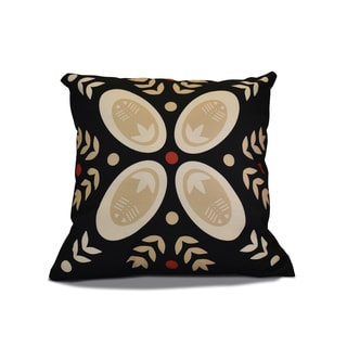 20 x 20-inch Tradition Geometric Holiday Print Outdoor Pillow