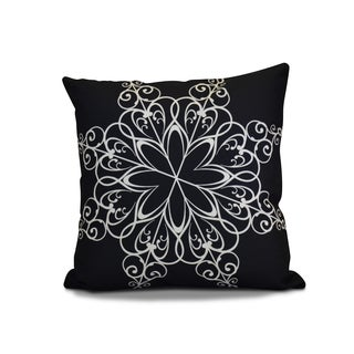 20 x 20-inch Snowflake Geometric Holiday Print Outdoor Pillow