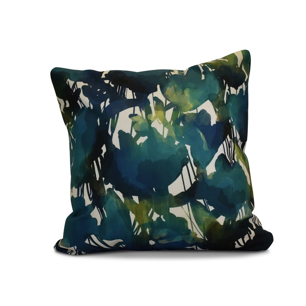 20 x 20-inch Abstract Floral Floral Print Outdoor Pillow