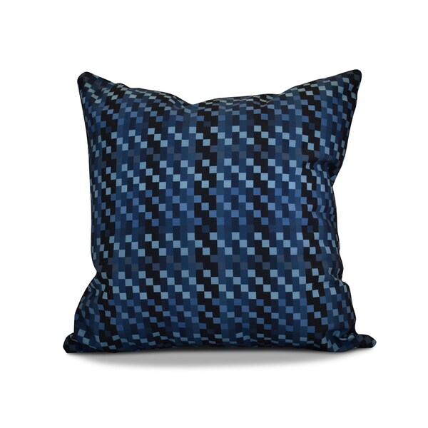 20 x 20-inch Mad for Plaid Geometric Print Outdoor Pillow