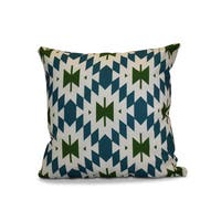 20 x 20-inch Patna Geometric Print Outdoor Pillow