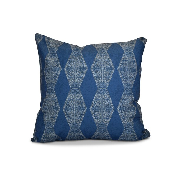 20 x 20-inch Pyramid Stripe Geometric Print Outdoor Pillow