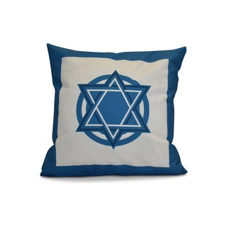 20 x 20-inch Star Bright Geometric Holiday Print Outdoor Pillow