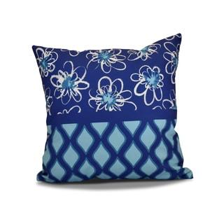 20 x 20-inch Penelope Trellis Geometric Holiday Print Outdoor Pillow