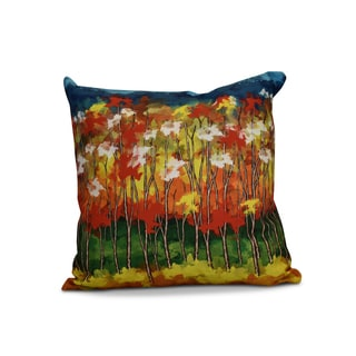 20 x 20-inch Autumn Floral Print Outdoor Pillow