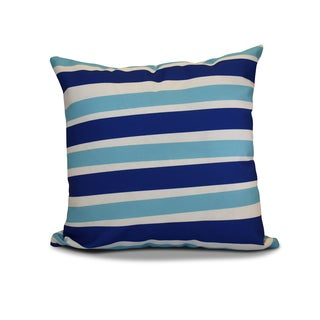 20 x 20-inch Stripes Stripe Holiday Print Outdoor Pillow